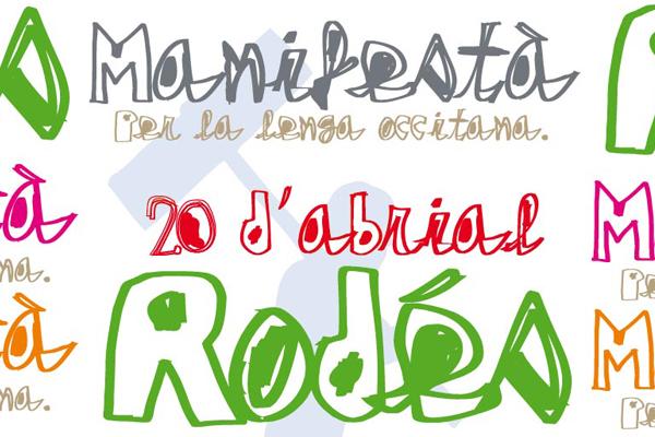 Manifestation pour la langue Occitane le 20 avril 2013 à Rodez